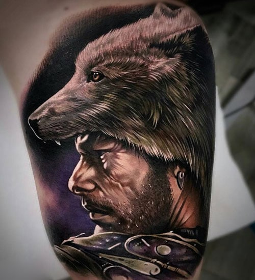 Badass Full Bicep Tattoo Designs
