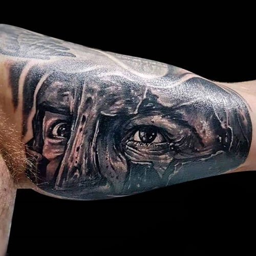 Badass Warrior Bicep Tattoos