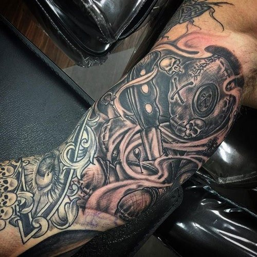 Best Inner Arm Bicep Tattoos For Guys