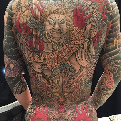 Chinese Full Back Tattoo