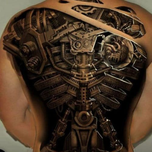 Cool 3D Full Back Tattoo Designs