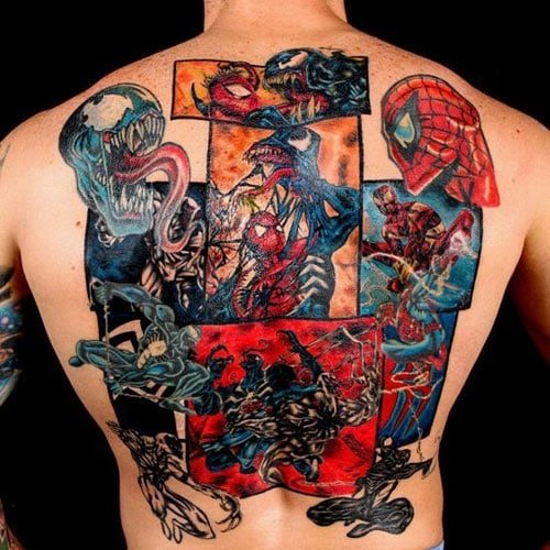 Cool Back Piece Tattoos