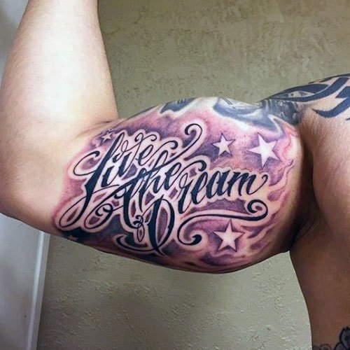 Cool Front Bicep Tattoo