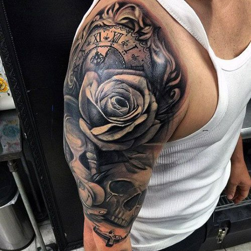 Cool Half Sleeve Tattoo For Guys