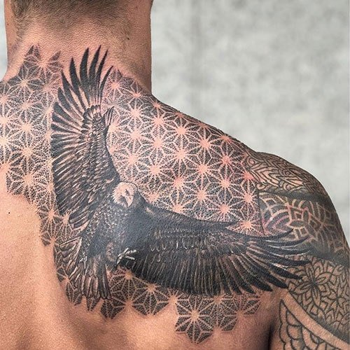 Cool Right Side Back Tattoo