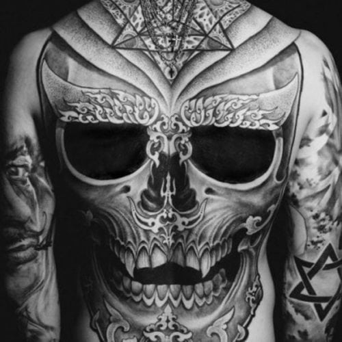 Cool Skull Full Back Tattoo Ideas