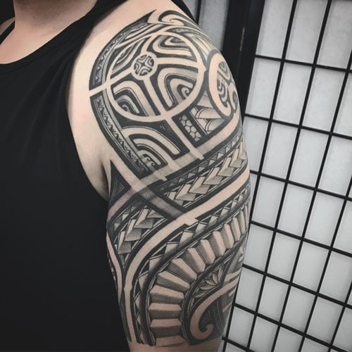 Cool Tribal Designs Half Sleeve Tattoo