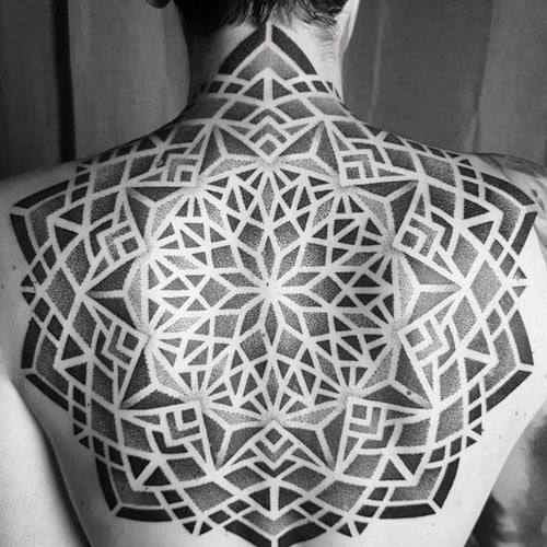 Geometric Back Tattoos