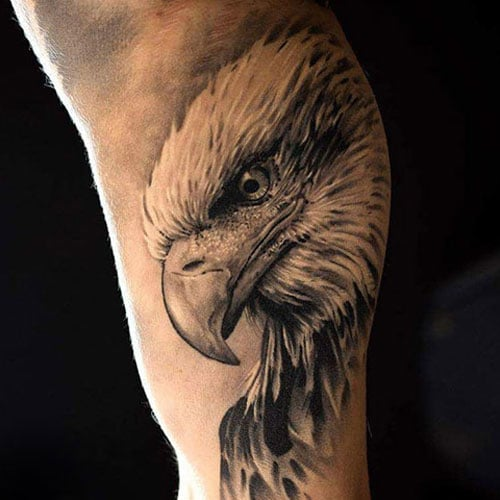 Inner Upper Arm Eagle Tattoo Designs