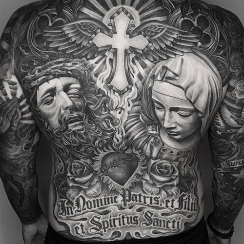 Jesus Back Tattoo Designs For Men