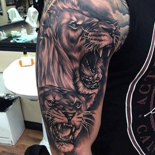 Lion Half Sleeve Tattoos