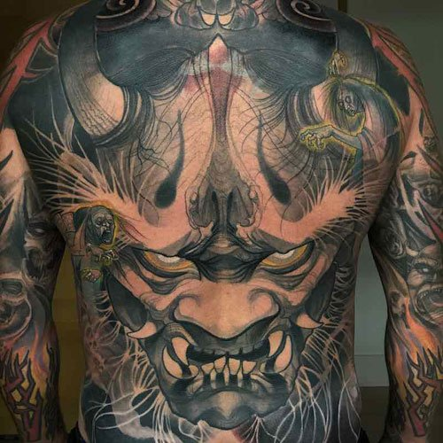 Men's Full Back Tattoos