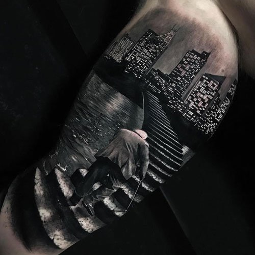 Realistic Bicep Tattoo Ideas For Guys