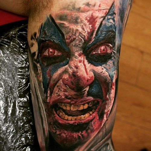 Scary Bicep Tattoo Ideas For Men