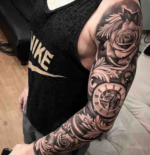 Sick Half Sleeve Tattoo Designs For Men