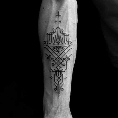 Simple Forearm Tattoo Designs For Men