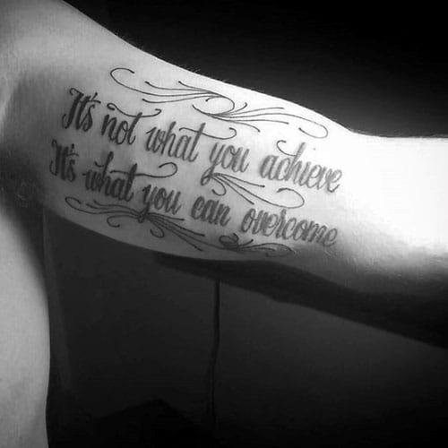 Simple Quote Inner Arm Tattoos