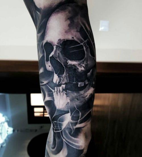 Skull Bicep Tattoo