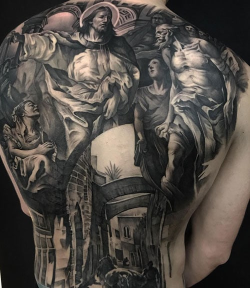 Traditional Back Tattoo For Guys
