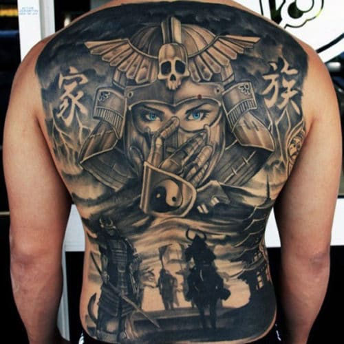 Warrior Back Tattoos For Men