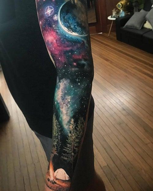 Amazing Color Sleeve Tattoo