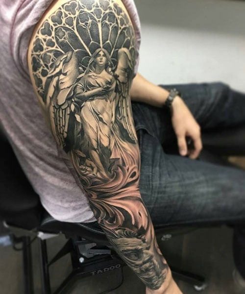Angel Sleeve Tattoo Ideas For Guys