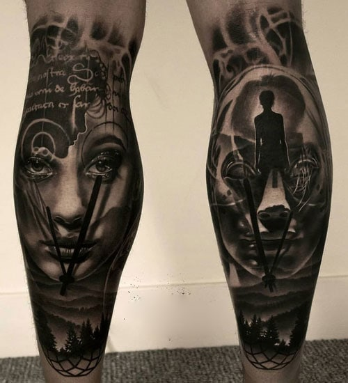 Awesome Calf Tattoos For Guys