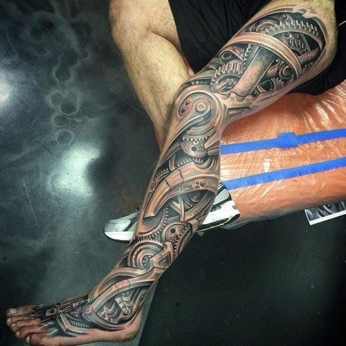 Awesome Left Leg Tattoos