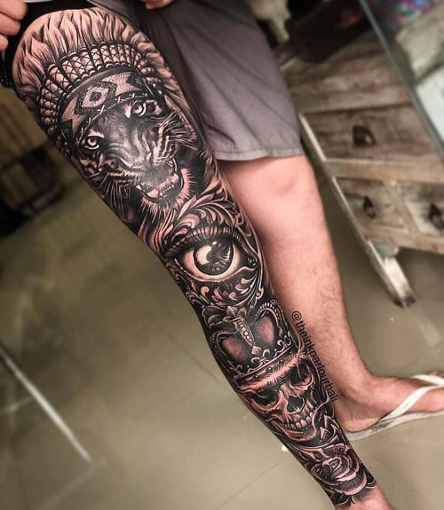 Awesome Leg Tattoo Designs