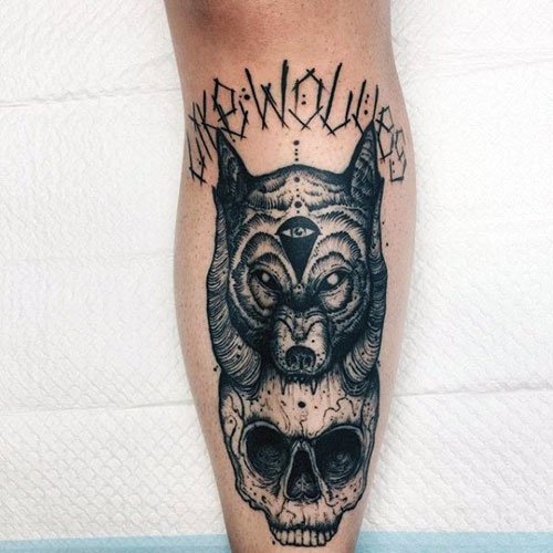 Awesome Shin Tattoo Designs For Men