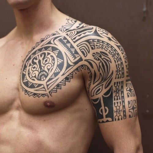 Awesome Tribal Half Sleeve Tattoo