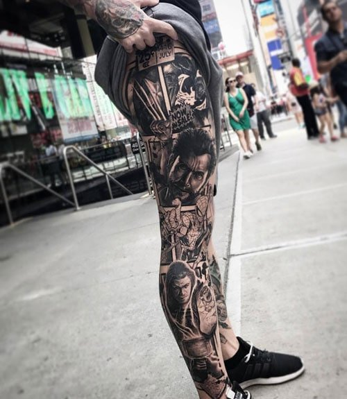 Badass Full Leg Sleeve Tattoo Designs For Guys