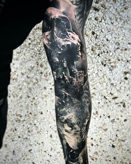 Badass Full Sleeve Arm Tattoo Designs