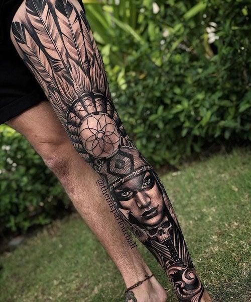 Badass Leg Tattoos For Men