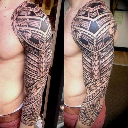 Badass Tribal Sleeve Tattoo Designs For Men