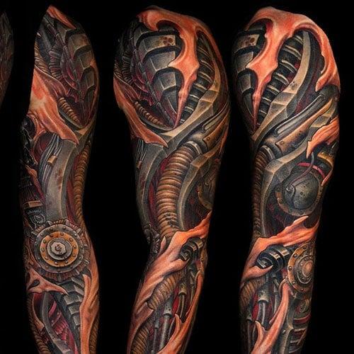 Best Biomechanical Sleeve Tattoo