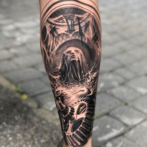 Best Calf Leg Tattoo