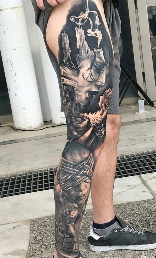Best Full Leg Tattoos For Men