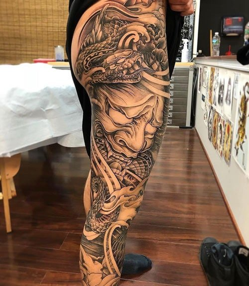 Best Japanese Leg Tattoo Designs