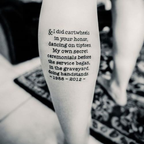 Best Leg Quote Tattoos