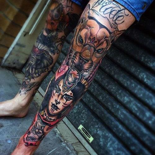 Best Shin Tattoos