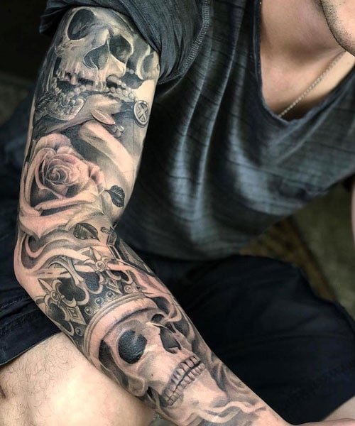 Best Skull Full Arm Sleeve Tattoo Ideas