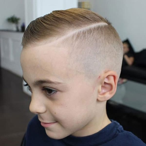 Boys Comb Over Fade + Hard Part