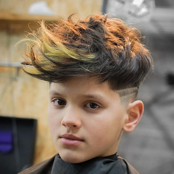 Boys Long Hair with Fade