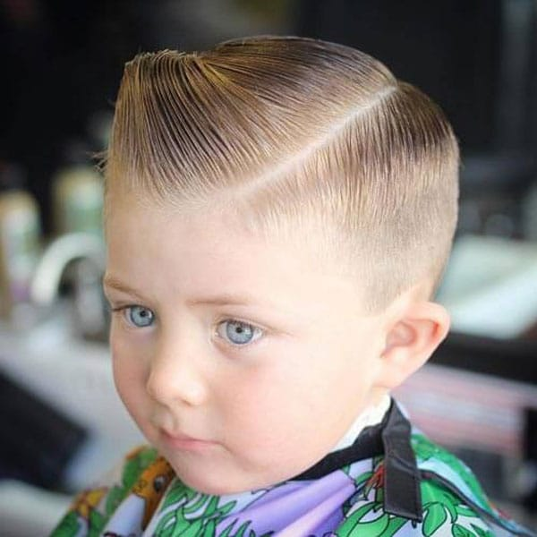 Boys Side Part Fade