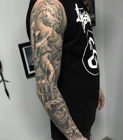 Cool Angel Sleeve Tattoo Designs