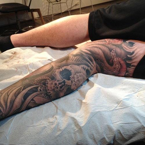 Cool Back Leg Tattoos
