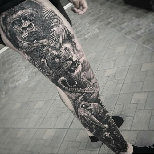 Cool Leg Tattoos For Guys