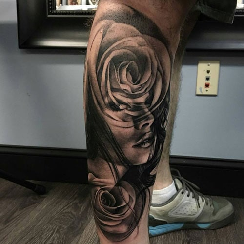 Cool Side Calf Tattoo Ideas