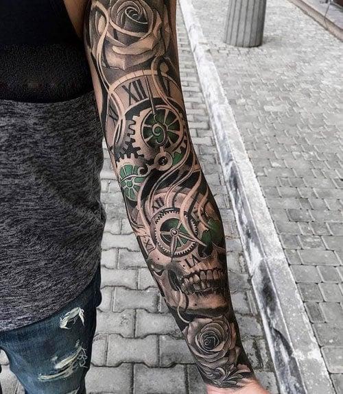 Skull Tattoo Arm Sleeve Arm Tattoo Sites 13